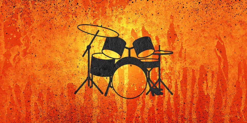 Portfolio - Drum Set - orange