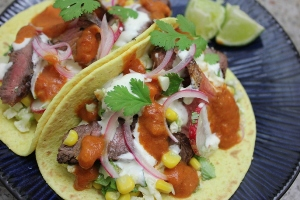 Healthy Spicy Steak Tacos