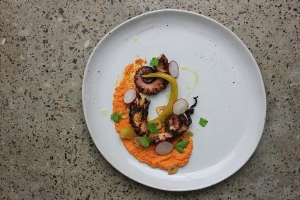 Always Fresh Grilled Octopus with Romesco